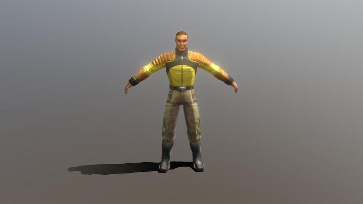 Tribes Vengeance Civilian male 3D Model