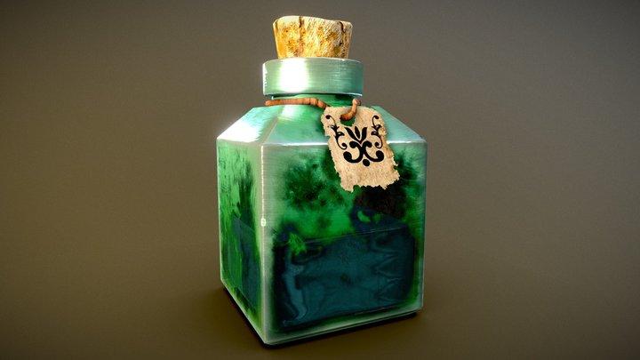 Green Elixir Potion 3D Model
