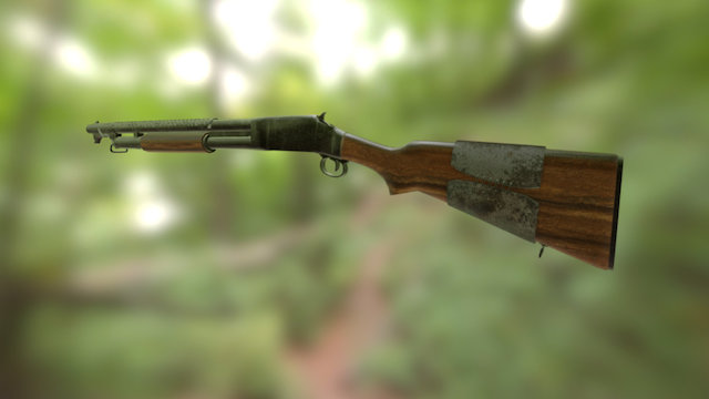 Winchester M97 'Trench Grade' 3D Model