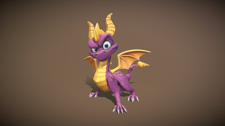 Spyro Fanart 3D Model