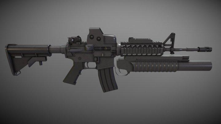 M4 ASSAULT MOD (EOTech Sight & M209 Launcher) 3D Model
