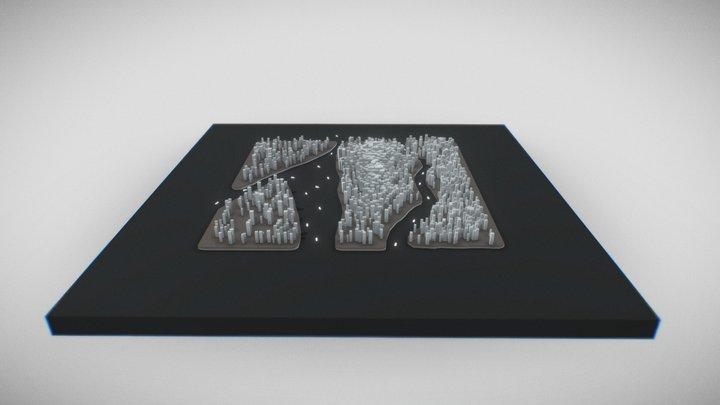 Stylized Low Poly City 3D Model