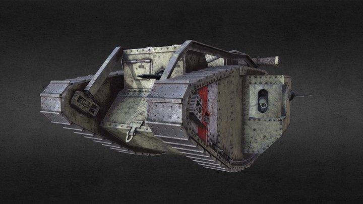 Mark 5 British tank (ww1) 3D Model