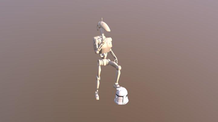 B1 Battle Droid 3D Model