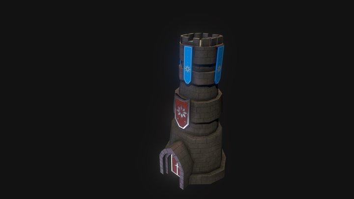 Rook Tower 3D Model