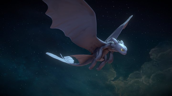 Toothless Test Animation 3D Model