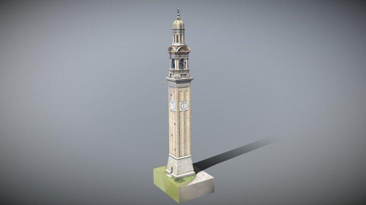 Drone photogrammetry of an italian clock tower 3D Model