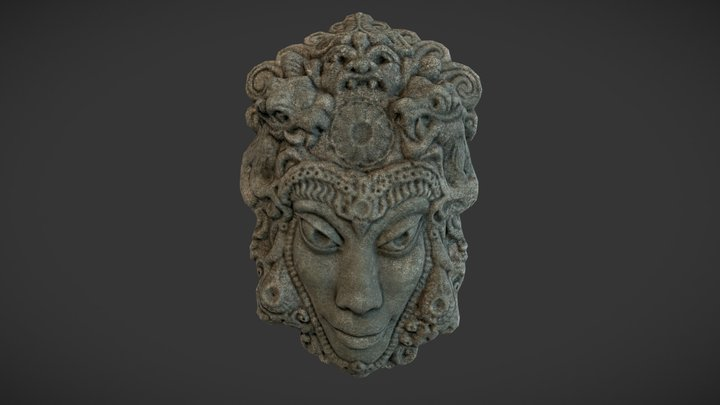 Mayan Tribal Mask 3D Model