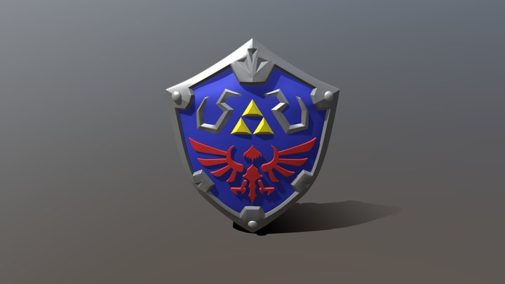 Zelda Hyrule Shield 3D Model
