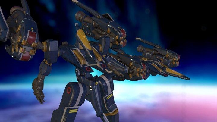 U.N.E. Strike Suit  3D Model