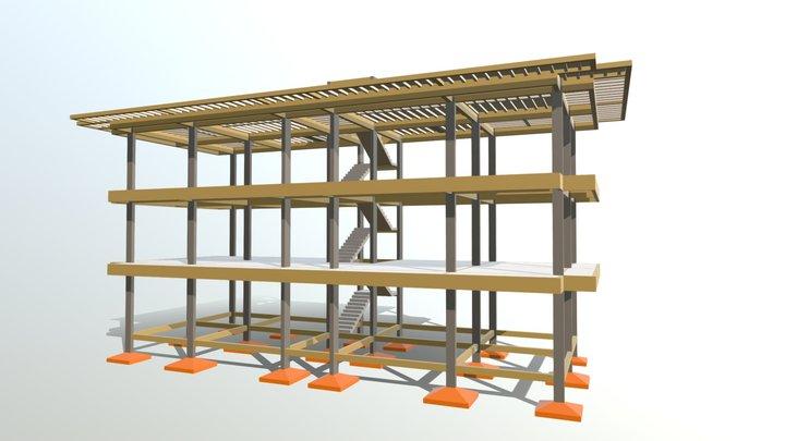 Projeto Estrutural - Residencial/Comercial 3D Model