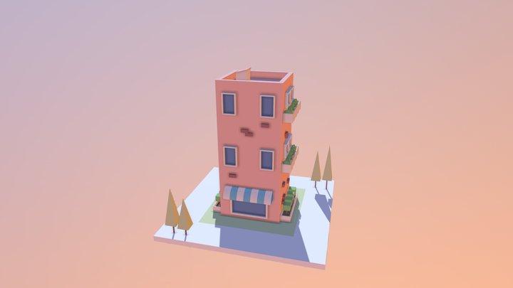 lowpoly building 3D Model
