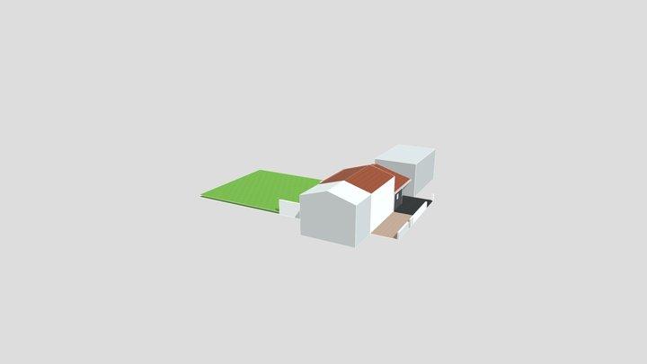 Extension maison individuelle 3D Model