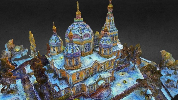 Voznesensky Cathedral StarryNight style transfer 3D Model