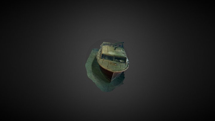 Boat on the Deep side of the quarry 3D Model