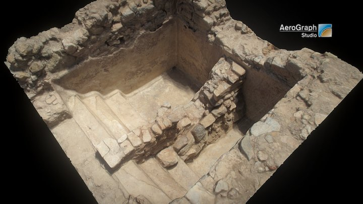 Roman pool in the Molinete, Cartagena, Spain 3D Model