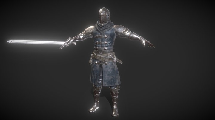 Long Sword knight(Full Rigged, Game Ready) 3D Model