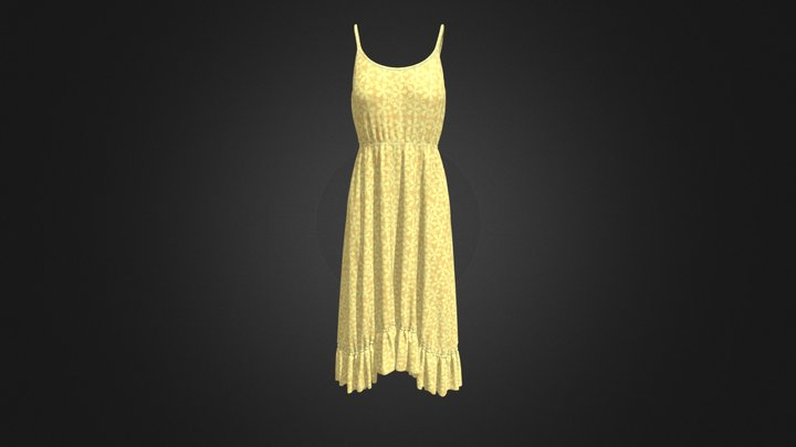 Ruffle dress 3D Model