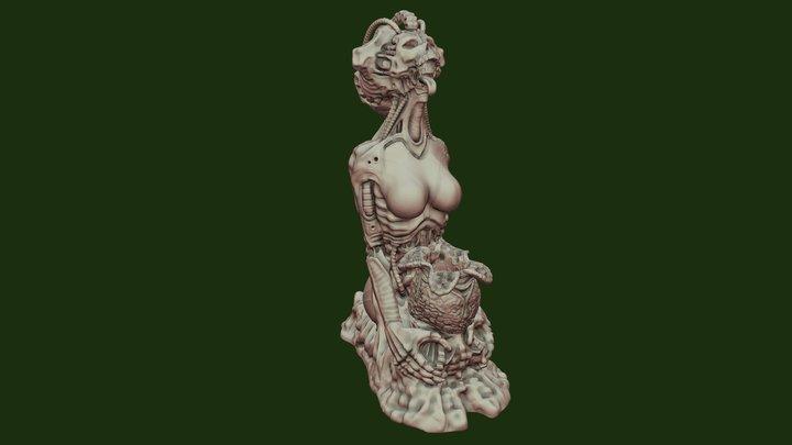 Giger Tribute Penholder 3D Model