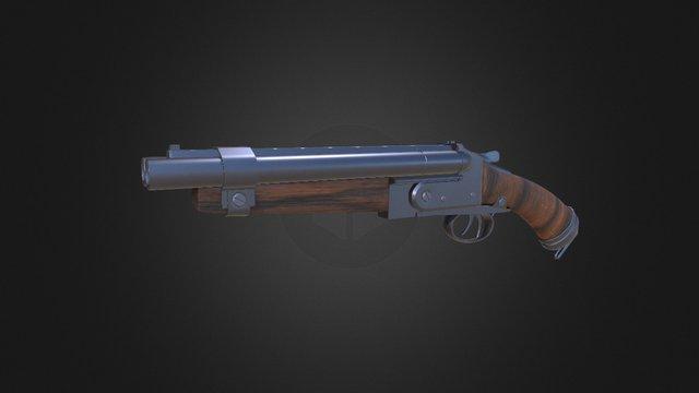 Shotgun PBR Substance Painter test 3D Model