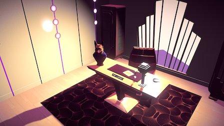 Office Scene 3D Model