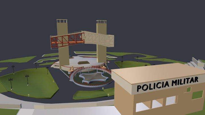 Praça Poderosa 3D Model