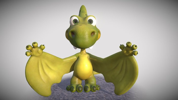 Pterodactyl the full-hearted dino 3D Model
