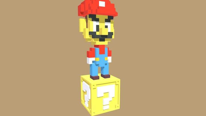Voxelart Nanoblock Mario 3D Model