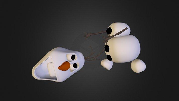Olaf WIP 3D Model