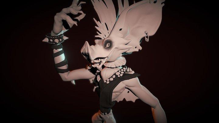 Güilly The Bat Rider [Sculpt] 3D Model
