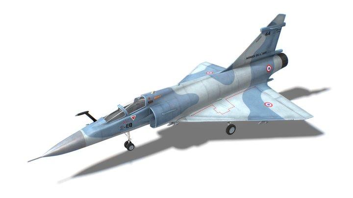 Mirage 2000 Jet Fighter Aircraft 3D Model