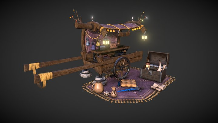 Magic store wagon 3D Model
