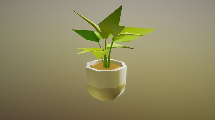Potted Plant - Household Props Challenge, Day 26 3D Model