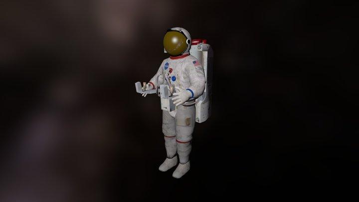 Vintage astronaut with AMU 3D Model