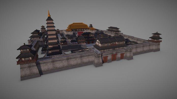 China Three Kingdoms luoyang city 3D Model