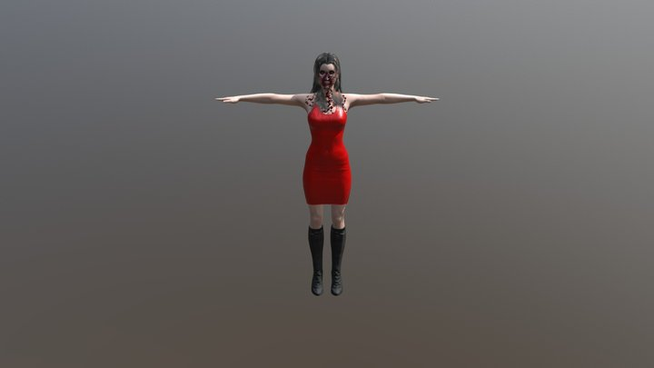 Sultry Female Zommbie 3D Model