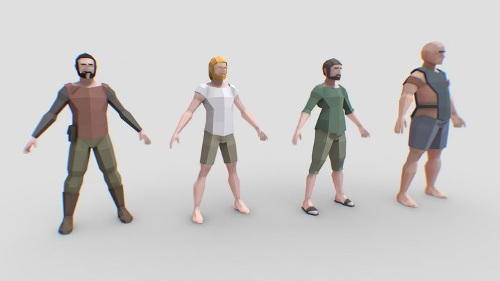 Low   Polygon   Characters   Pack 3D Model