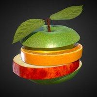 Fruit-Burger 3D Model