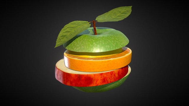 Fruit-Burger 3D Model