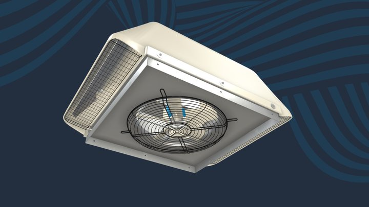 Terminator Roof Fan and Cowl 3D Model