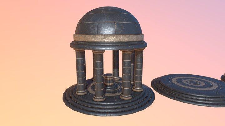 Ancient Egyptian Temple - Trim Sheet Texture 3D Model