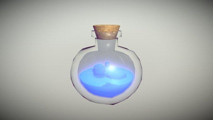 Lowpoly Glass Bottle with Cork #5 3D Model
