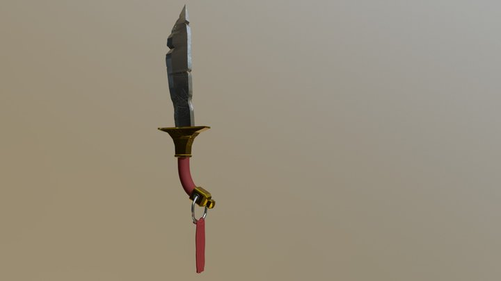 Cartoon Sword, made from scratch (W.I.P) 3D Model