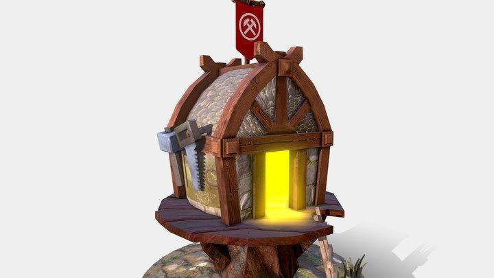 Builders Hut 3D Model