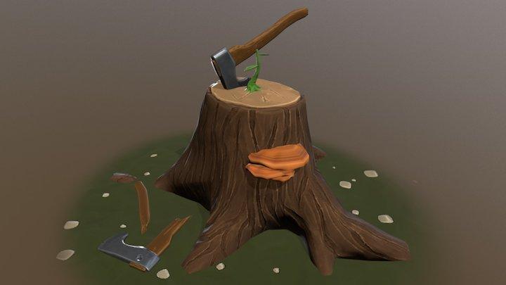 Woodcutter's Block 3D Model