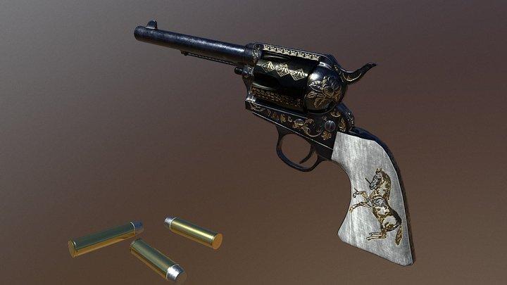 Army Colt Revolver 3D Model