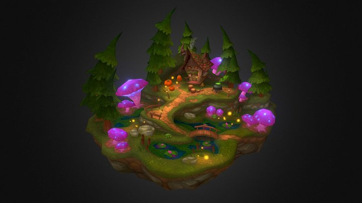Swamp of the Toad Witch 3D Model