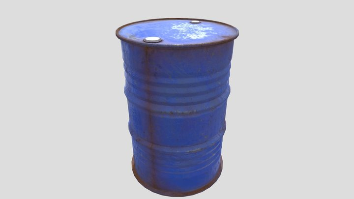 Rusty metal barrel 3D Model