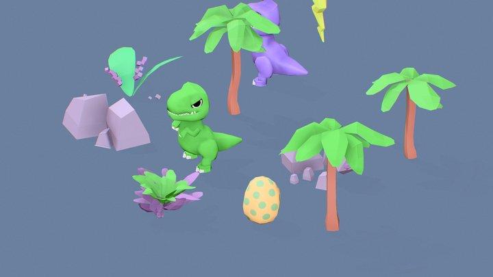 Dinosaur GameJam Assets 3D Model