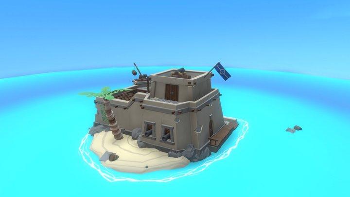 Fort Le Barrel 3D Model
